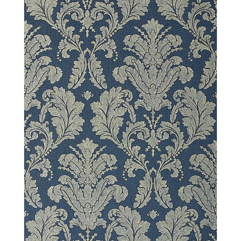 Wallpaper wall baroque damask EDEM 752-37 luxury embossed heavyweight blue platin 5.33 sqm (57 sq ft)