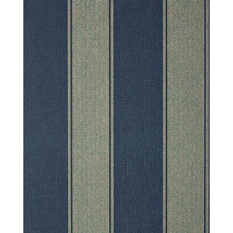 Wallpaper wall baroque stripe EDEM 753-37 luxury heavy-weight vinyl platin blue 5.33 sqm (57 sq ft)