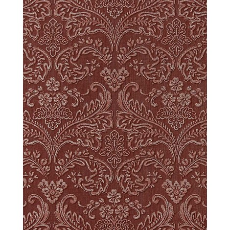 Wallpaper wall baroque stripe EDEM 755-26 deluxe heavy-weight vinyl wallpaper wall baroque damask orient-red platin 5.33 sqm (57 sq ft)