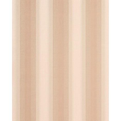 Wallpaper wall block stripes er stripe pattern EDEM 085-23 brown apricot old-rose silver 5.33 sqm (57 sq ft)
