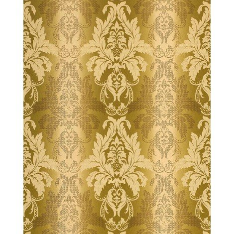 Wallpaper wall damask barock ornanment EDEM 770-31 luxury embossed heavyweight wallpaper wall olive green 5.33 sqm (57 sq ft)