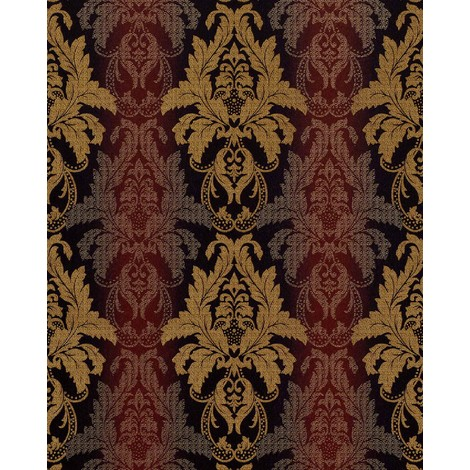 Wallpaper wall damask barock ornanment EDEM 770-36 embossed heavyweight wallpaper wall brown red gold 5.33 sqm (57 sq ft)
