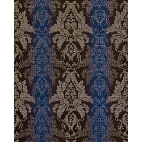 Wallpaper wall damask barock ornanment EDEM 770-37 luxury embossed heavyweight wallpaper wall brown blue 5.33 sqm (57 sq ft)