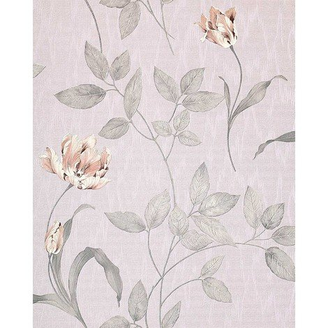 Wallpaper wall floral luxury EDEM 769-37 embossed flowers fabric look blue-lilac rose violet 5.33 sqm (57 sq ft)