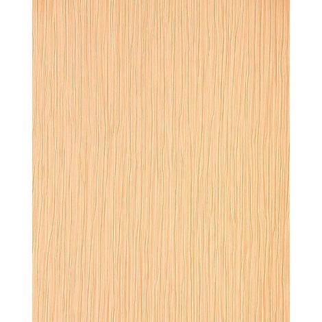 Wallpaper wall heavy-weight vinyl EDEM 715-26 embossed stripe caramel light brown rose gold 57 sq ft