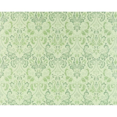 Wallpaper wall luxury baroque royal damask EDEM 966-28 heavy-weight non-woven green light green 26.50 sqm (285 sq ft)