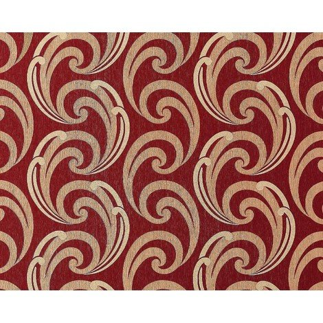Wallpaper wall luxury textured curved lines EDEM 915-35 XXL non-woven embossed pattern red bronze gold 10.65 sqm (114 sq ft)