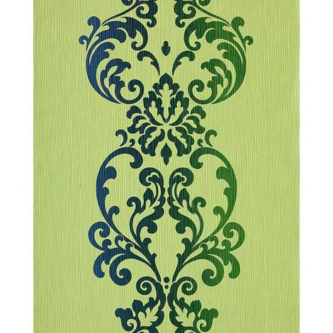 Wallpaper wall modern art baroque ornament EDEM 178-25 green olive blue pearl 5.33 sqm (57 sq ft)