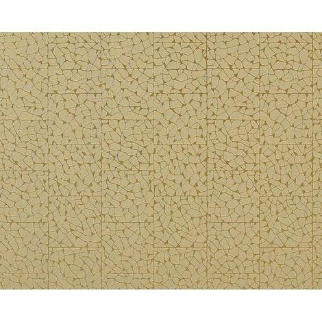 Wallpaper wall mosaic EDEM 928-38 embossed non-woven tile green-beige gold 10.65 sqm (114 sq ft)