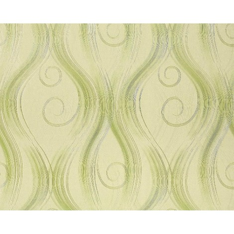 Wallpaper wall non-woven curved lines EDEM 954-28 luxury embossed stripes decor light green 10.65 sqm (114 sq ft)