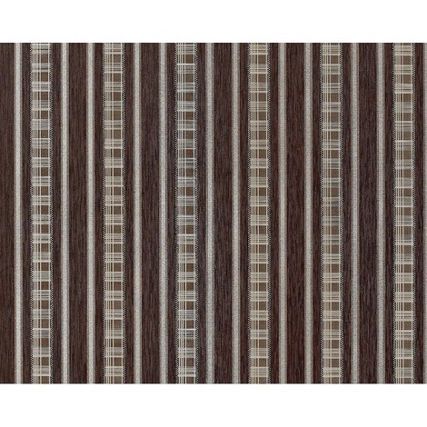 Wallpaper wall non-woven EDEM 640-94 XXL textured stripe curtain look choco brown bronze silver 10.65 sqm (114 sq ft)
