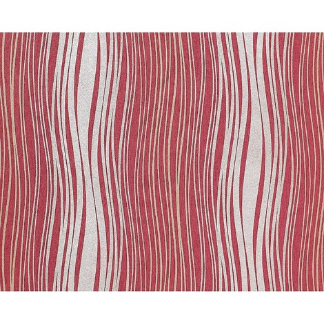 Wallpaper wall non-woven EDEM 695-94 abstract textured glitter stripes raspberry red silver gold 10.65 sqm (114 sq ft)
