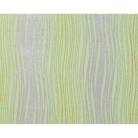 Wallpaper wall non-woven EDEM 695-95 abstract textured glitter stripes light green silver olive 10.65 sqm (114 sq ft)