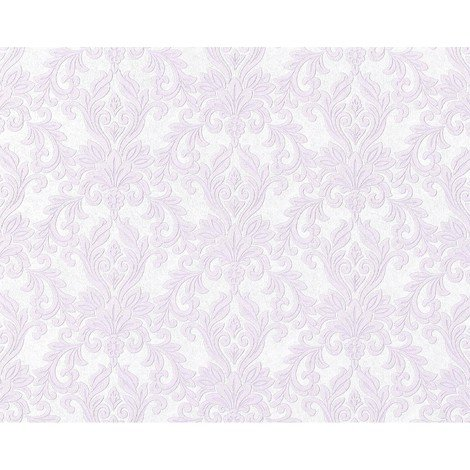 Wallpaper wall non-woven EDEM 696-92 XXL baroque damask natural white light grey pastel violet 10.65 sqm (114 sq ft)