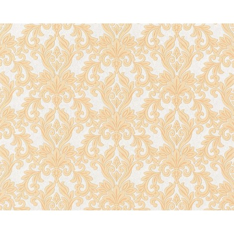 Wallpaper wall non-woven EDEM 696-94 XXL baroque damask natural white light grey safron yellow brown 10.65 sqm (114 sq ft)