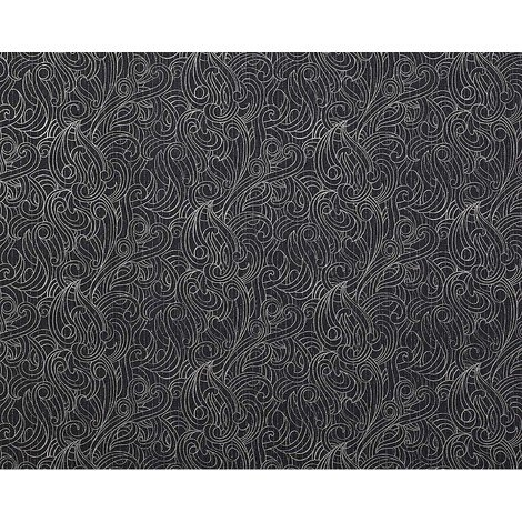 Wallpaper wall non-woven EDEM 698-96 pattern quality textured black grey-white 10.65 sqm (114 sq ft)
