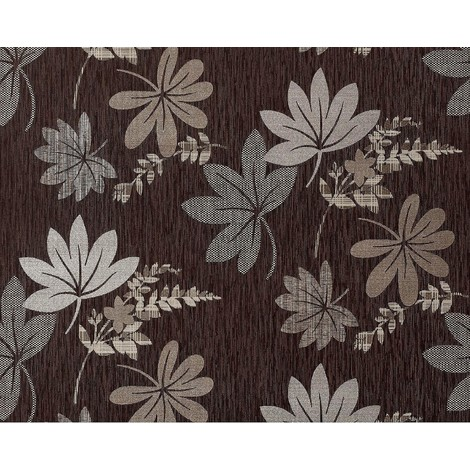 Wallpaper wall non-woven floral look EDEM 641-94 XXL flowers choco brown bronze silver 10.65 sqm (114 sq ft)