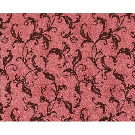 Wallpaper wall non-woven floral vintage EDEM 600-94 antique look flowers red wine-red 10.65 sqm (114 sq ft)