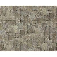 Wallpaper wall non-woven textured stone EDEM 957-27 cubes natural brick decor stone-grey 10.65 sqm (114 sq ft) XXL roll