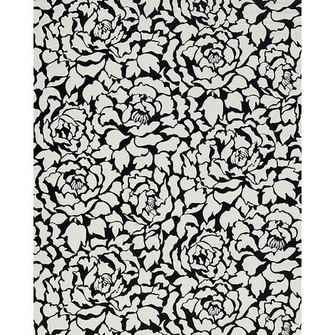 Wallpaper wall peony flowers EDEM 830-20 deluxe deep embossed Anthracite white 75 sq feet