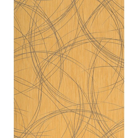 Wallpaper wall style crack circle texture EDEM 1021-11 glossy metallic look gold-yellow gold 5.33 sqm (57 sq ft)