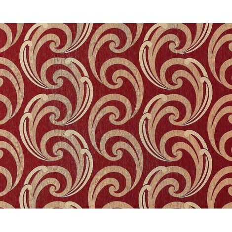Wallpaper wall textured curved lines EDEM 915-35 XXL non-woven embossed pattern red bronze gold 10.65 sqm (114 sq ft)