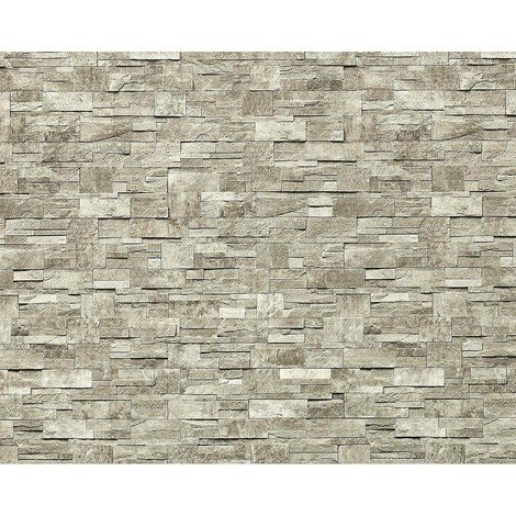 Wallpaper wall XXL non-woven EDEM 918-34 textured dressed natural stone decor light gray natural 10.65 sqm (114 sq ft)