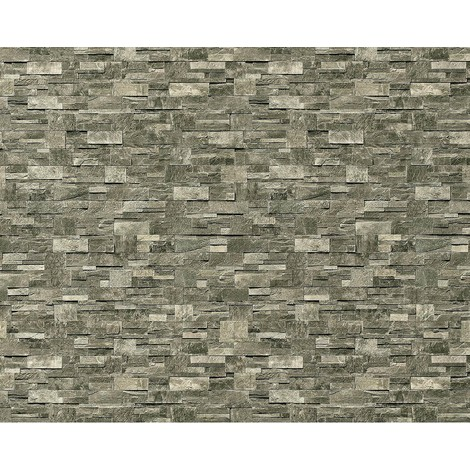 Wallpaper wall XXL non-woven EDEM 918-36 textured dressed natural stone decor stone-grey 10.65 sqm (114 sq ft)