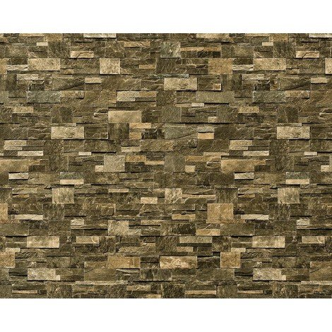 Wallpaper wall XXL non-woven EDEM 918-38 textured dressed natural stone decor schist brown green 10.65 sqm (114 sq ft)