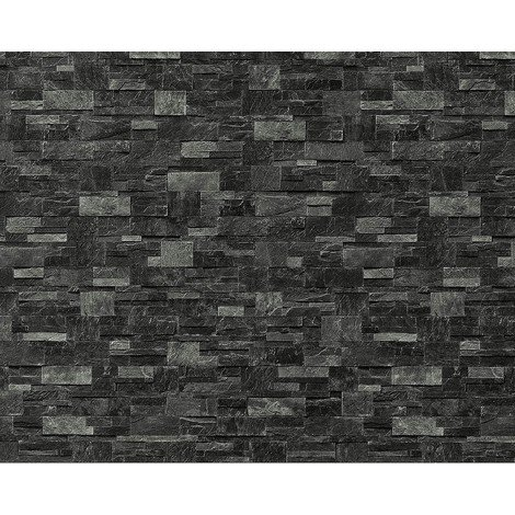 Wallpaper wall XXL non-woven EDEM 918-39 textured dressed natural stone decor slate gray dark gray 10.65 sqm (114 sq ft)