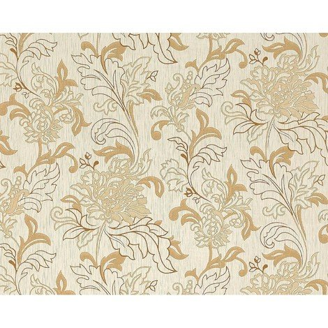 Wallpaper wall XXL textured floral look EDEM 604-93 non-woven flowers beige brown gold 10.65 sqm (114 sq ft)