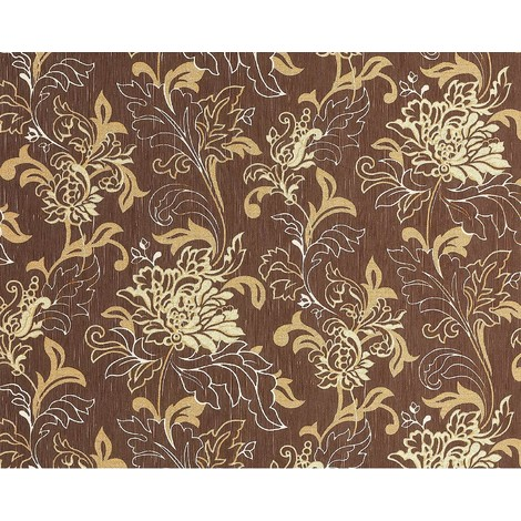 Wallpaper wall XXL textured floral look EDEM 604-94 non-woven flowers brown cream beige gold 10.65 sqm (114 sq ft)