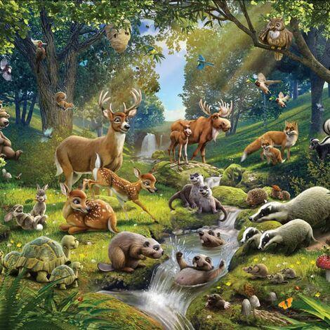 Walltastic Photo Wallpaper Animals Forest 43060