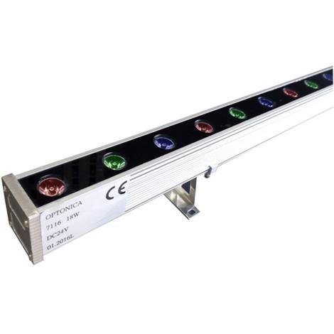 Wallwasher Led 1 m 18W/24V RGB - IP65 EPISTAR