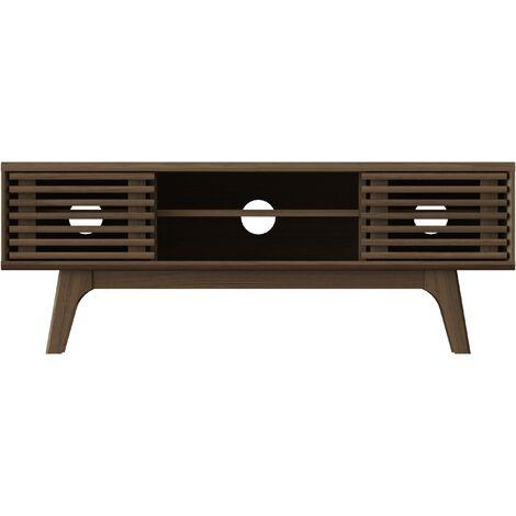 """main image of """"Walnut Copen TV Unit 120cm with storage cabinets, W117xD35xH43.5 cm - Walnut"""""""