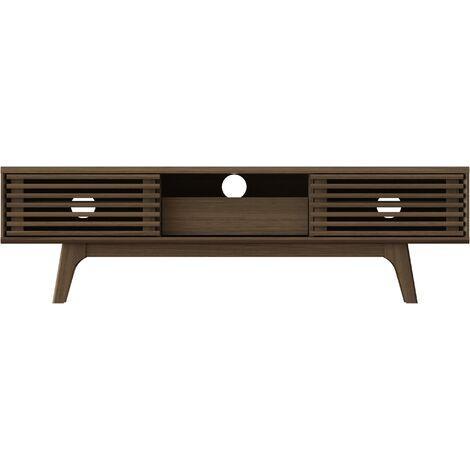 """main image of """"Riviera Oak Copen TV Unit 150cm with storage cabinets, W150xD35xH41.5 cm - Riviera Oak"""""""