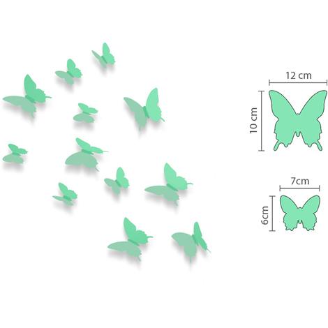 Walplus 3D Butterflies Apple Green