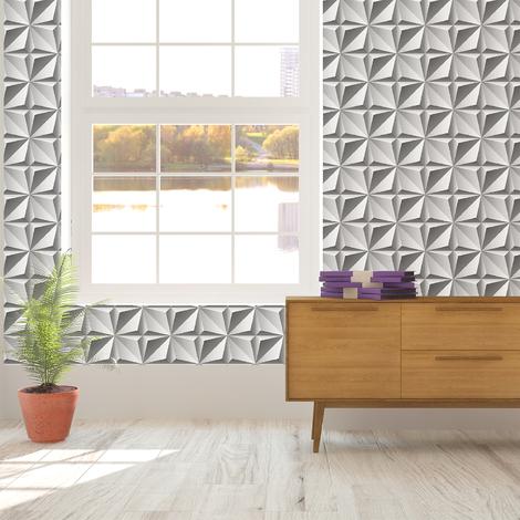 Walplus 3D Northern Star Pattern Wall Mural Removable PVC Sticker
