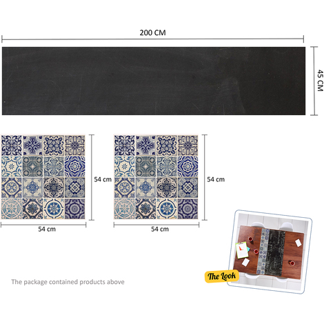 Walplus Blackboard and tiles furniture wrap