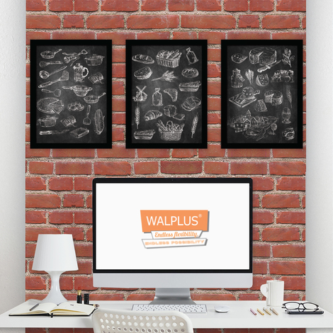 Walplus Chalk Sketches poster set No. 1