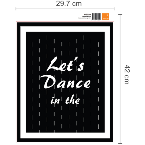 Walplus Frame Sticker Dance in the Rain Quote