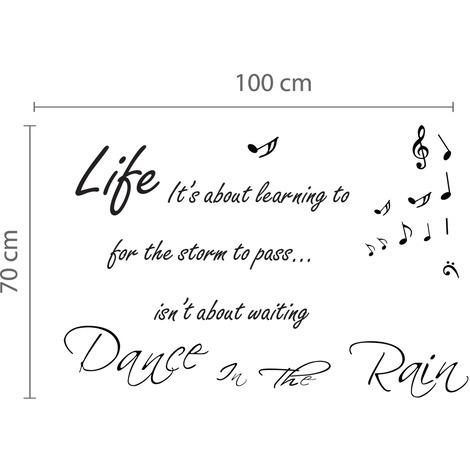 Walplus Frame Sticker Dance in the Rain Quote & Dance in The Rain