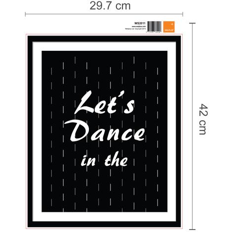 Walplus Frame Sticker Dance in the Rain Quote & Frame Sticker Bicycle Quote & Frame Sticker Good Luck