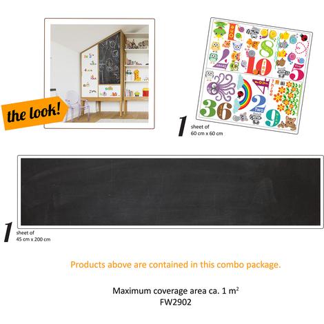 Walplus Furniture Wrap Count and learn Blackboard Self-Adhesive Decal