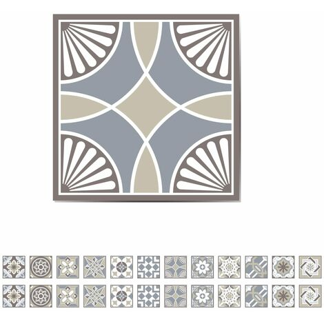 WALPLUS Stair Sticker Spanish Limestone 15x15cm 24 Sheets