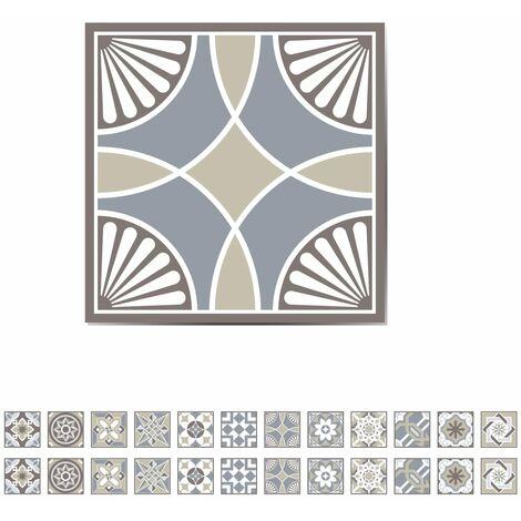 WALPLUS Vinilo adhesivo de escalón baldosa española 24 láminas 15x15cm