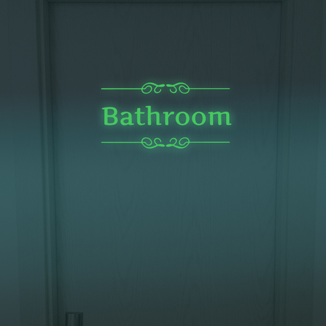 Walplus Wall Decals Bathroom Glow in Dark sticker