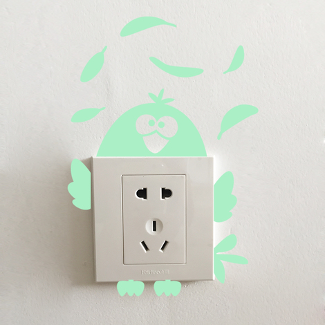 Walplus Wall Decals Chicken Glow in Dark sticker