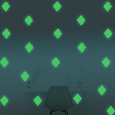 Walplus Wall Decals Diamond Glow in Dark sticker