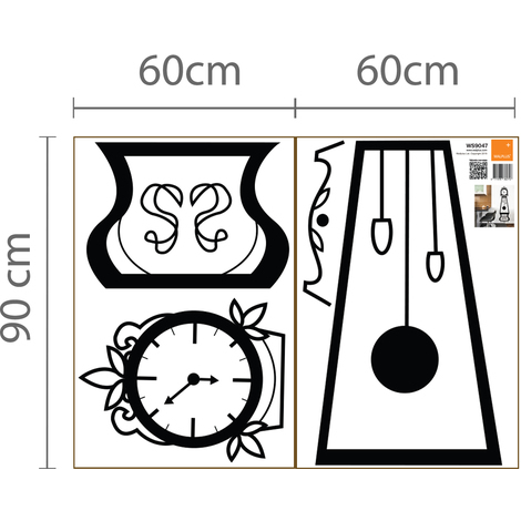 Walplus Wall Decals Furniture Sets - Clock